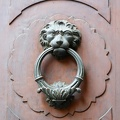 Antique lion door knocker
