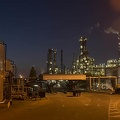 Refinery photography, oil refinery at night