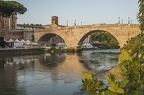 Tiber bridges,Roma. River in Rome
