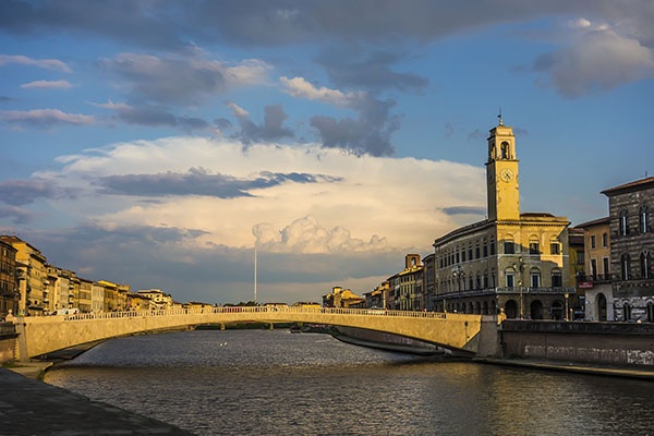 Arno bridge in Pisa Italy